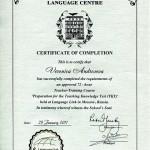 Дипломы об образовании и сертификаты